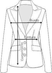 Tabela de medidas blazer