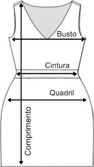 Tabela de medidas vestido