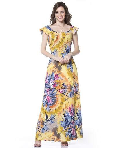 eb74efe6f Vestido longo 05867 by Moda Feminina Sunny Days